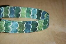 Ocean Waves Adjustable Dog Collars & Martingales & Leashes & Cat Collars