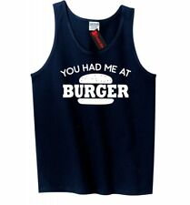 Had Me At Burger Funny Mens Tank Top Food Lover Meat Valentines Day Sleeveles Z3