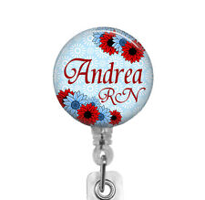 Personalized Badge Reel, Carabiner, Stethoscope ID Tag, RN Nurse Badge Holder