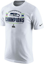NIKE Seattle Seahawks SuperBowl XLVIII Conference Champs Locker Room Shirt White
