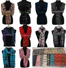 Pick 1,2,3 100%Cashmere Scarf Plaid Scotland Wool Wrap / Crinkle Style Shawl NEW