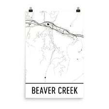 Beaver Creek CO Map, Art, Print, Poster, Wall Art From $29.99 - ModernMapArt