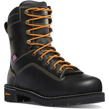 "Danner 8"" Quarry Black Steel/Alloy Toe Boots (17311)"