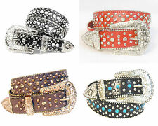 "Western Rhinestone Cowgirl Bling Women Studded Fashion Belt Wholesale 1.5"" 50116"