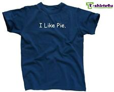 I LIKE PIE - Funny Humor Novelty Cool Party Tee - Mens T-Shirt - NEW - Blue