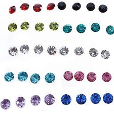 Hot Earrings Allergy Free Round Pin Girls Jewelry Crystal Earrings Ear Studs