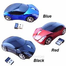 LED 2.4G Car Shape Wireless Optical Mouse Mice For Laptop PC USB Receiver New