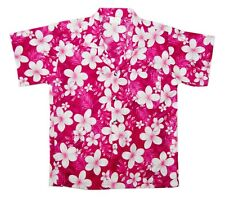 Toddler Boys Girls Floral Frangipani Aloha Hawaiian Party Shirt Short Sleeve