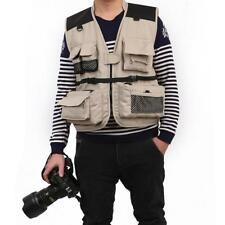 Multi Pockets Fly Fishing Waistcoat Casual Vest Jacket for Travel Hunting