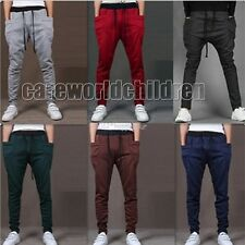 New Mens Women Boys Casual Baggy Jogging Trousers Sport Dance Harem Sweat Pants
