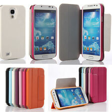 Ultra Thin PU Leather Flip Stand Case Protective Cover for Samsung Galaxy S4
