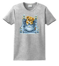 Pocket Puppy Printed Tees Ladies S M L XL and Plus Size Port & Company