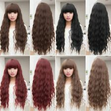 Beauty Womens Lady Long Curly Wavy Hair Full Wigs Cosplay Party D#LQ