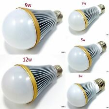LED Light Bulb Lamp 3W 5W 7W 9W 12W AC 85-265V E26 E27 Day Warm White Lighting