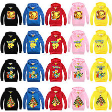 Toddler Kids Pikachu Pokemon Sweatshirt Casual Hoodies Long Sleeve Coat Jacket