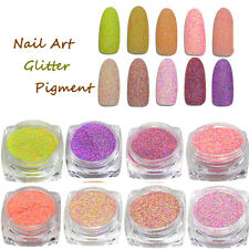 6 Colors Nail Art Glitter Powder Dust For UV GEL Acrylic Powder Decoration Tips