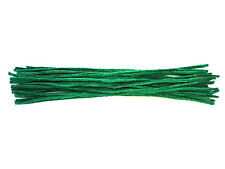 Green Cotton Pipe Cleaners | 15cm or 30cm | UK Made