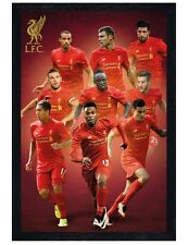 Liverpool FC Black Wooden Framed Players 16/17 Maxi Poster 61x91.5cm