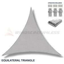 Sun Shade Sail Light Grey Equilateral Triangle Canopy Awning Patio Pool Outdoor