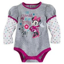 Minnie Mouse Double-Up Cuddly Bodysuit NWT Disney Store Girls sizes 3-6,12-18 mo