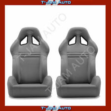 SAAS Kombat Charcoal Dual Recline X2 (Pair) Sports Race Seat ADR Approved