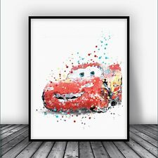 Disney Cars Lightning McQueen Disney Pixar Cars Poster Disney Wall Decor