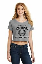 Property Of Bushwood Country Club Funny Caddyshack Golf Ladies Crop Top Shirt Z7