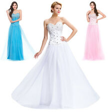 NEW Long Princess Bridesmaid Formal Gown Ball Party Cocktail Evening Prom Dress#