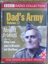 DAD'S ARMY VOLUME 12  - ABSENT FRIENDS - 2 CASSETTE AUDIO BOOK
