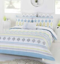 New Dwell Pavana King Size Quilt / Doona Cover Set Cotton 3 or 6 Pce Sets
