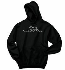 Horse Heartbeat Horse Sweatshirt Equine Horse Lover Rider Graphic Hoodie