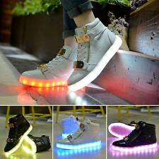 New Unisex LED Light Lace-Up Luminous Sportswear Sneaker Men Womens Casual Shoes