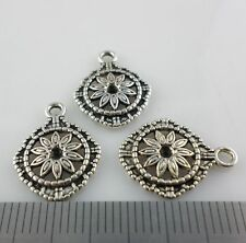 20/40/300pcs Tibetan Silver Flowers Charms Pendants Beads for Jewelry 14x17mm