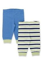 TWO PACK OF BABY BOY BLUE AND STRIPE JOGGERS/BOTTOMS FROM MARKS AND SPENCER BNWT
