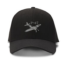 P-47Aircraft Name Embroidery Embroidered Adjustable Hat Cap