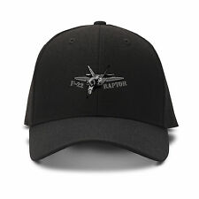 F-22 Raptor Aircraft Name Embroidery Embroidered Adjustable Hat Cap