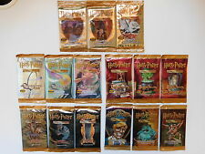 Harry Potter Trading Card Game TCG Lot Complete Set of all Booster Packs! Base +