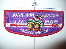 OA Quanopin Lodge 309,S13,1980s,VER PUR Flap,PB,319,329,Nashua Valley Council,MA