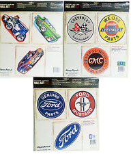 Removable wall art boys mens room hot rod cars sticker decal set of 3