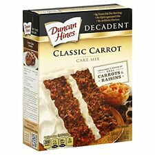 Duncan Hines Decadent Cake Mix, Classic Carrot Cake, One Box