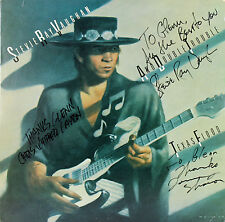Double Trouble (3) Stevie Ray Vaughan +2 Signed Album Cover W/ Vinyl BAS #A02011