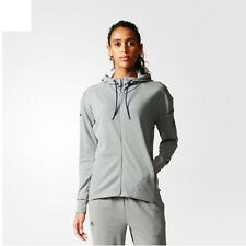 Adidas S98963 Women Tennis Club Sweat Hoodie Track Top Jacket gray