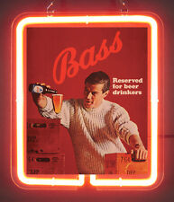 Bass Reserved For Beer Drinkers New Brand New Neon Light Sign