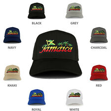 RGY Rasta Jamaica Text Island Palm Tree Iron on Patch Adjustable Baseball Cap