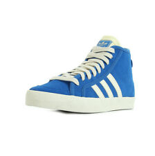 Chaussures Baskets adidas femme Honey Mid taille Bleu Bleue Cuir Lacets