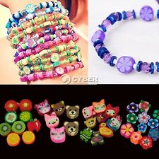 100pcs colorful Fimo Polymer Clay Fruit Spacer Beads for Bracelets Pendant D8