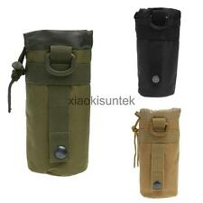 600D Nylon Tactical Molle Water Bottle Bag Kettle Pouch Camping Hiking
