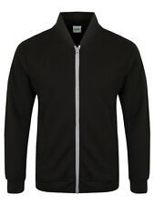 Full Zip Men's Black Bomber Jacket