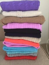 $238 NWT J Crew Collection 100% italian cashmere mini cable Sweater All Color XS