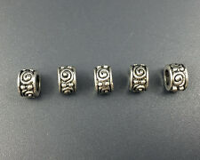 Charm Metal Beads Antique Silver Loose Spacer Beads For Jewelry Making 5x8mm